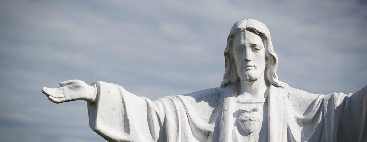 Jesus statue slider
