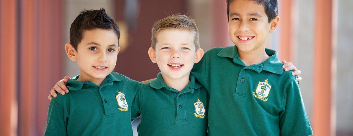 boys in green polos